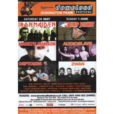 DOWNLOAD FESTIVAL 2003 Flyer FLYER UK 2003 A5 Single-Sided Flyer For Festival