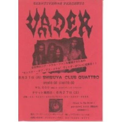 VADER Creativeman Presents FLYER Japanese Promo Flyer For Gig At Shibuya Club