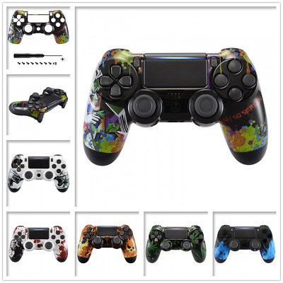 Patterned Top Replacement Shell for Dualshock 4 PS4 Pro Slim Controller JDM-040