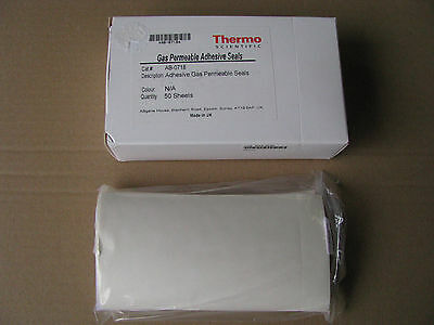 Thermo Scientific AB-0718 Gas Permeable Adhesive Plate Seal 50 Stück