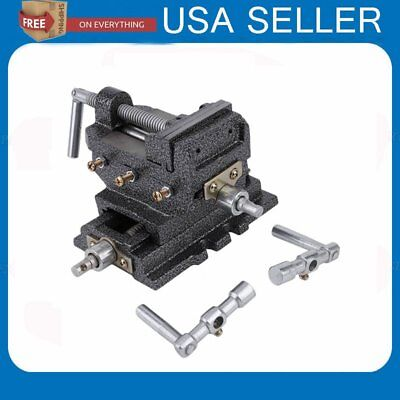 "2017 US 3"" Cross Drill Press X-Y Clamp Machine Vise Metal Milling Slide 2 Way MA"