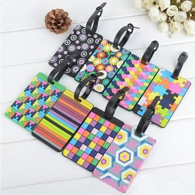 Luggage Tags Labels Strap Name Address ID Suitcase Bag Travel Baggage Secure New