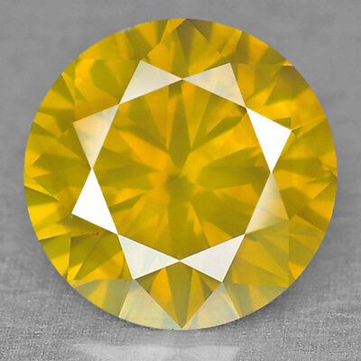 Fancy Lemon Yellow Diamond Round 1.35 cts Loose Natural Diamond F430