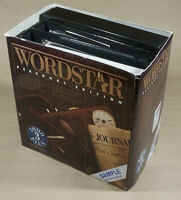 Wordstar Personal Edition V.3 - Word Processing Package for Early DOS Computers