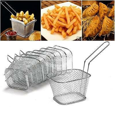 1Pc/4Pc/8Pcs Stainless Steel Chip Frying Baskets Kitchen Serving Fish Chip Fryer