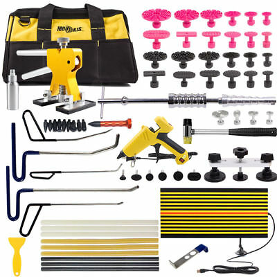 PDR Puller Rods Paintless Dent Repair Hail Lifter Removal Kits Line Board Tools