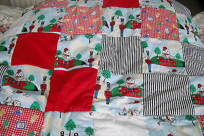 "Hand Made Nursery Rhyme ""humpty Dumpty""patchwork Cot Quilt Size 37"" X 51""x1""new!"
