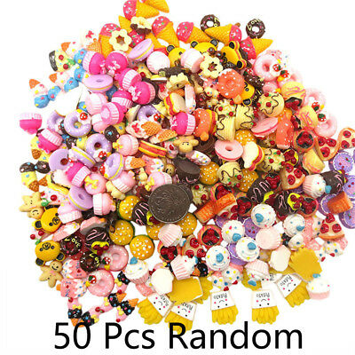 50Pcs Squishy Fast food&Rilakkuma Squeeze Charms Slow Rising Toy Collection Gift