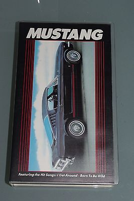 Rare VHS video tape - MUSTANG - THE FORD MUSTANG STORY 1964 - Late 1980's