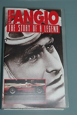 Rare GP VHS video tape - Jaun Manuel FANGIO - The Story of a Legend - Formula 1