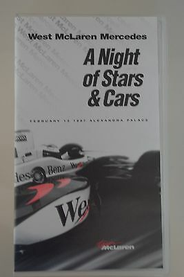 RARE F1 VHS video tape - West McLaren Mercedes MP4/12 'A Night of Stars & Cars'