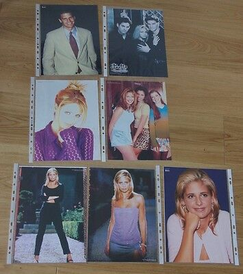 "7 x Sarah Michelle Gellar - Buffy the Vampire Slayer MAG PROMO PHOTOS 8"" X 11"""