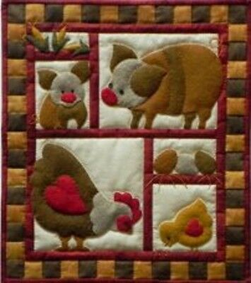 SALE PRICE: Miniature Rachel's of Greenfield Quilt Kit - Ham & Eggs 13in X 15in