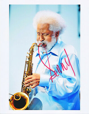 SONNY ROLLINS original AUTOGRAPH 8x10 signed photo (hand signed)