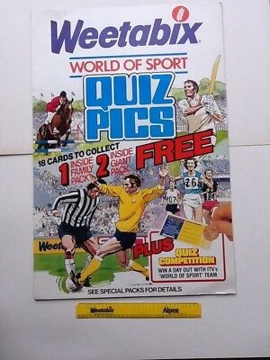 Weetabix World Of Sport Shop Display 1981 Size 75x51cm