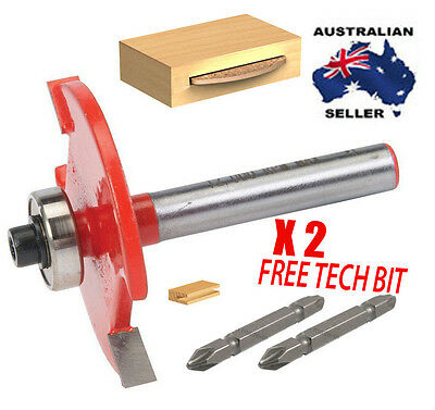 "Slot Cutter/ biscuit joiner Router Bit 3.1 mm 1/4'' x1/8""WITH X2 FREE TECH BIT"