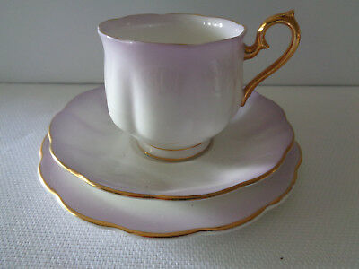 Royal Albert Trio - Rainbow  **Lilac**  Great Condition No Damage