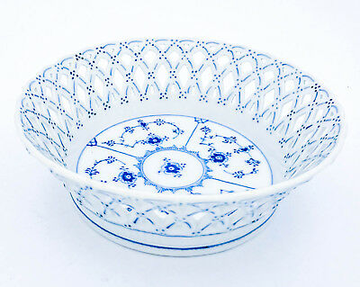 Small Fruitbowl #1054 - Blue Fluted - Royal Copenhagen - Full Lace - 1st Quality