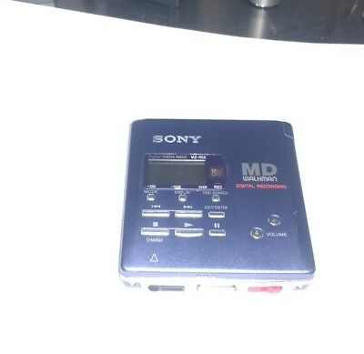 Sony Mz-R55 Portable Minidisc Recorder / Tested Working / Good Condition