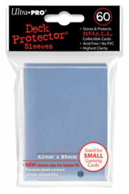 Ultra Pro Deck Protector Small Sleeves CLEAR YuGiOh Cards 60ct Pack - 62 x 89mm