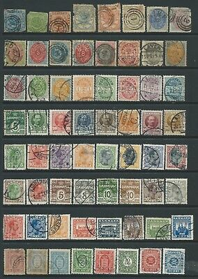 2 scans-Collection of mixed used Denmark stamps.
