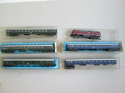 N scale assorted Atlas DB carriage coach x5 for model train sets nice condition.