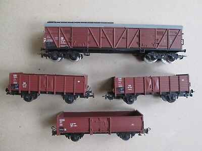 Piko ROCO HO used assorted freight coal wagons box cars for model train set VGC!