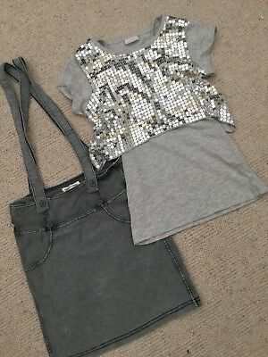 Girls Skirt And Sequinned Top Size 8-9 Years