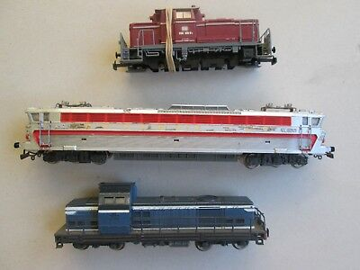 HO assorted Jouef almost running engine loco x3 for model train set