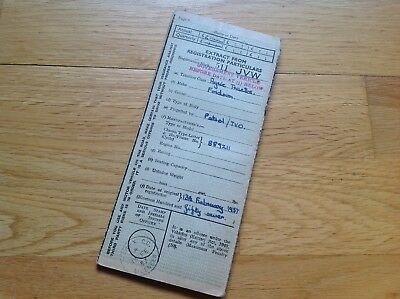 Original Ww2 Fordson Tractor Document , Raf Bomb Base Vechicle?