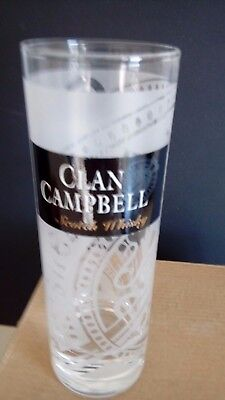 CLAN CAMPBELL WHISKY 6 Verres tube 22 cl