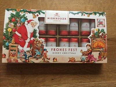 Niederegger Lubeck Classic Marzipan Loaves In Dark Chocolate Christmas