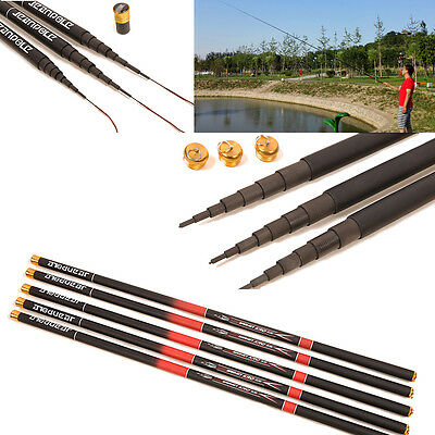 Hot 3.6M Telescopic Freshwater Hand Fishing Pole Strong Carbon Fiber Fishing Rod