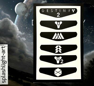 PS4 Controller Light Bar 6x DESTINY 2 (Pack 2) VINYL Sticker Decal PlayStation 4