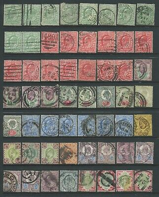 Collection of mostly good used EdVII stamps.