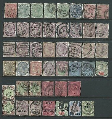 Collection of mixed QV Surface-Printed stamps.