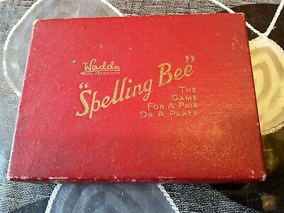 Vintage Waddy Productions Spelling Bee Card Game Original Box & Instructions