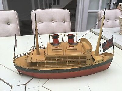 Decorative vintage wooden boat with Union Flags