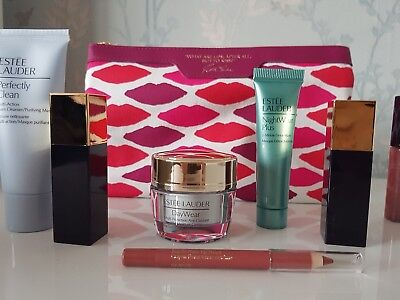 Estee lauder gift set with cosmetic bag