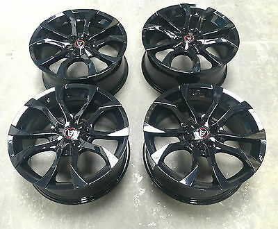 """18"""" Wolfrace Assassin Gloss Black Alloy Wheels 5X108 Ford Focus St Mondeo"""