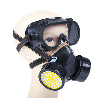Unisex Safety Respiratory Gas Mask With 2 Dual Protection Filter Windproof
