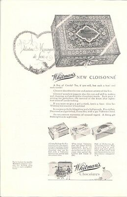 Whitmans New Cloisonne Box of Chocolate Candy Vintage Ad