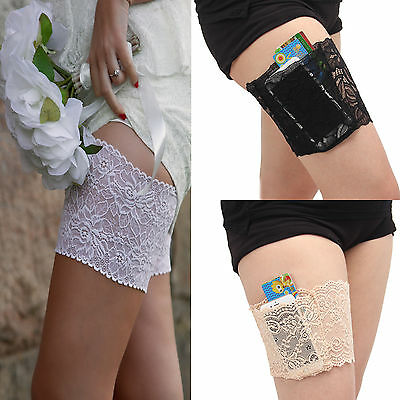 Non Slip Lace Elastic Sock Anti-Chafing Thigh Band Prevent Thigh Chafing Sock