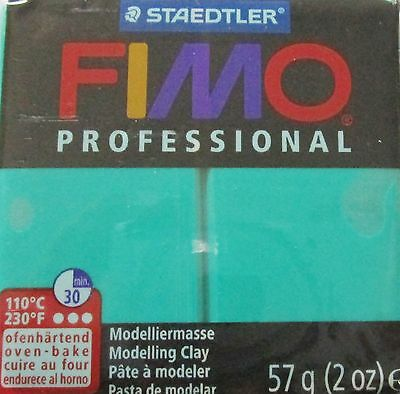 FIMO PROFESSIONAL - Polymer Clay - 57g BLOCK - GREEN - CLEARANCE