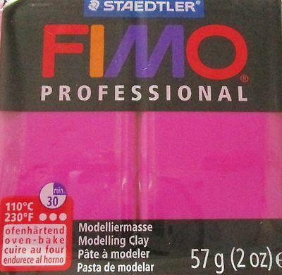 FIMO PROFESSIONAL - Polymer Clay - 57g BLOCK - TRUE MAGENTA - CLEARANCE