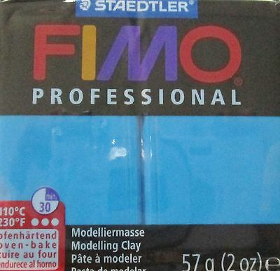 FIMO PROFESSIONAL - Polymer Clay - 57g BLOCK - BLUE - CLEARANCE