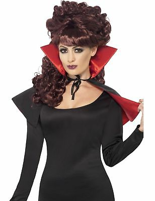 Womens Mini Vampire Cape Halloween Fancy Dress Costume