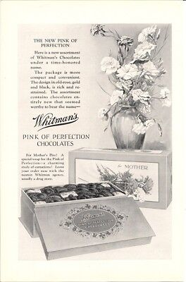 Pink of Perfection Whitmans Chocolates for Mothers Day Vintage Ad