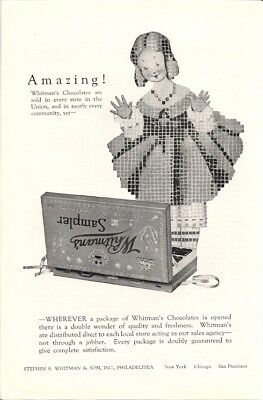 Whitmans Candies Double Wonder of Quality and Freshness Vintage Ad