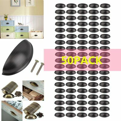 50X Cabinet Pull Handle Oil Rubbed Bronze Kitchen Drawer Hardware Zinc Alloy MA